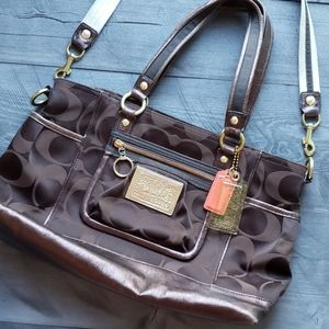 Great condition Coach poppy bag brown purple